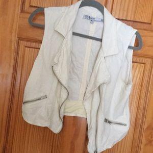 White Zip Vest